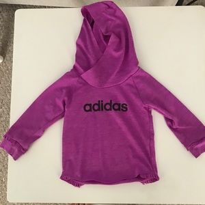 Adidas Thin pullover with hood 18 months